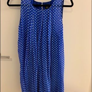 Anthropologie blue dress with white polka dots - 6